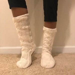 💋❄️ Juicy Couture Cream Slipper Socks